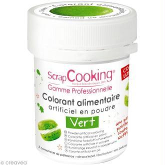 Colorant poudre alimentaire artificielle - Vert - 5 g