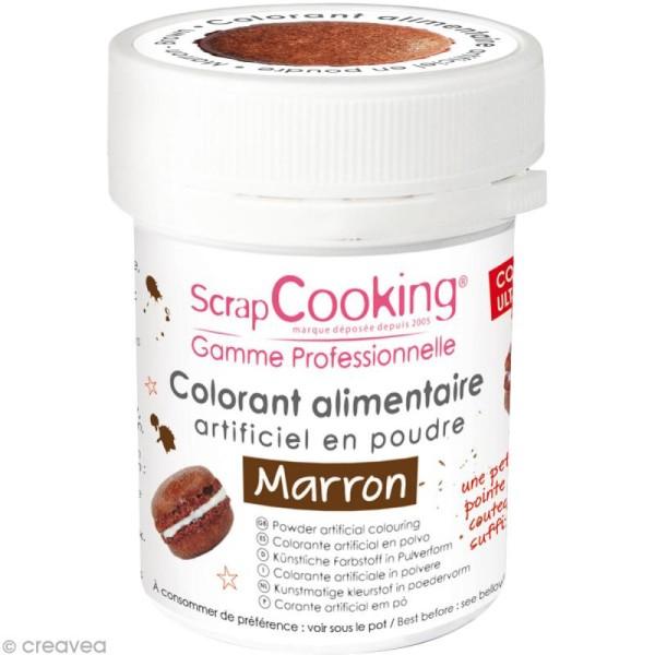 Colorant poudre alimentaire artificielle - Marron - 5 g - Photo n°1