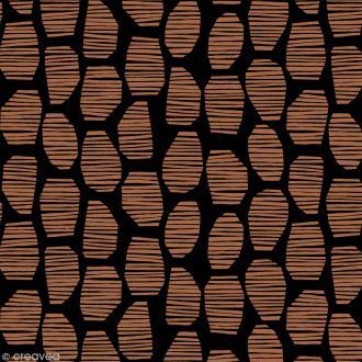 Tissu Atelier Brunette Attraction - Halo Brown - Par 10 cm (sur mesure)