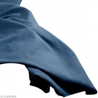 Tissu uni Bleu jean (DENIM) 100% coton - Largeur 114 cm - Par 10 cm (sur mesure)