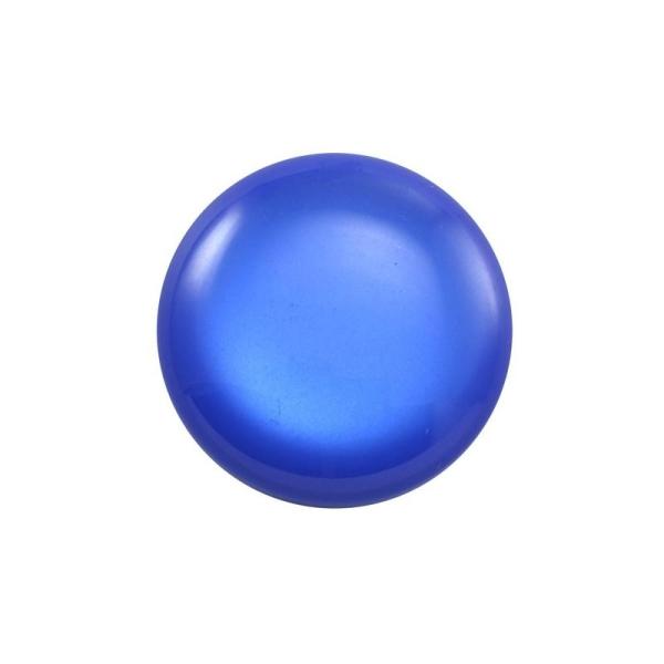 Cabochon rond polaris 24 mm bleu électrique - Photo n°1