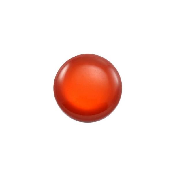 Cabochon rond polaris 24 mm rouge brique - Photo n°1