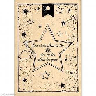Tampon So lovely - Des rêves et des étoiles - 7 x 10 cm