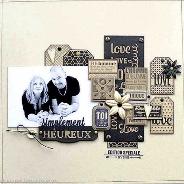 Tampon mariage - La bague au doigt - Quatre tags - 10 x 13 cm - Photo n°2
