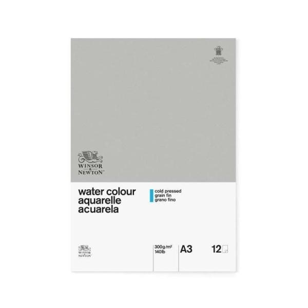 WINSOR & NEWTON Papier aquarelle classique - 300 g/m² - Bloc 12 feuilles - colle 1 cote - a3 - Photo n°1