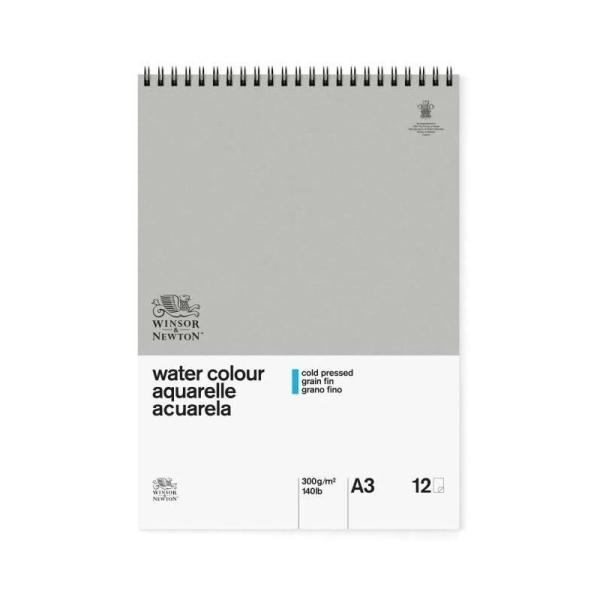 WINSOR & NEWTON Papier aquarelle classique - 300 g/m² - Bloc 12 feuilles - spirales - a3 - Photo n°1