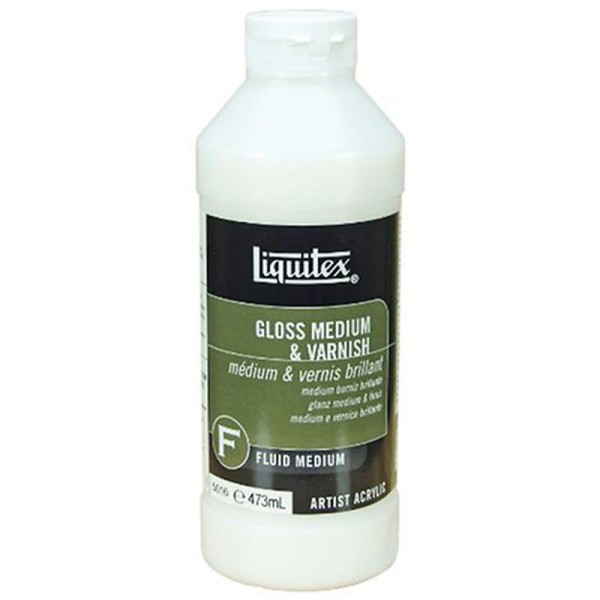 Liquitex Professional Pot d'Additif vernis Brillant Taille M 473 ml - Photo n°1