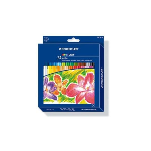 Staedtler - Noris Club - Pack de 24 Craies pastels à l'huile jumbo - Assortis - Photo n°1