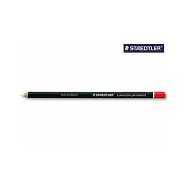Staedtler - Glasochrom - Crayon graphite rond pour 1 écriture toute surface mine - Rouge - Photo n°1