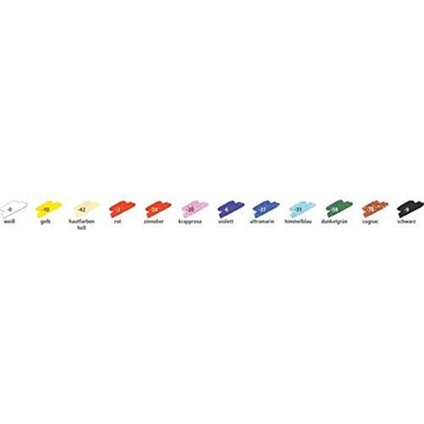 Staedtler Karatâ Lot de 12 Pastels à l'huile Vermillon - Photo n°1