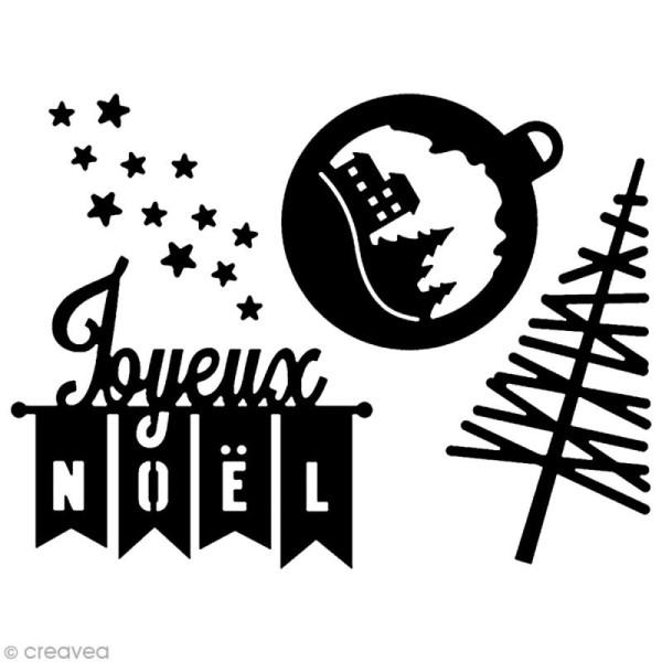 Die Florilèges Design - Les quatros - Joyeux Noël - 4 pcs - Photo n°2