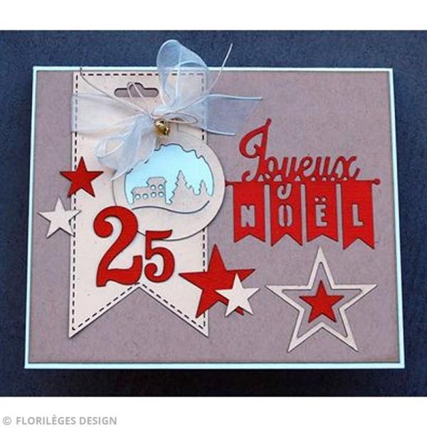 Die Florilèges Design - Les quatros - Joyeux Noël - 4 pcs - Photo n°4