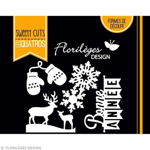 Die Florilèges Design - Les quatros - Bonne année - 4 pcs - Photo n°3