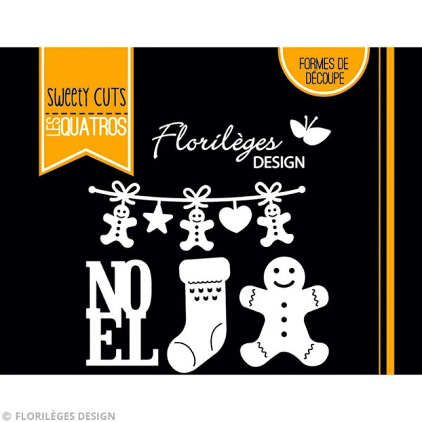 Die Florilèges Design - Les quatros - Noël gourmand - 4 pcs - Photo n°3