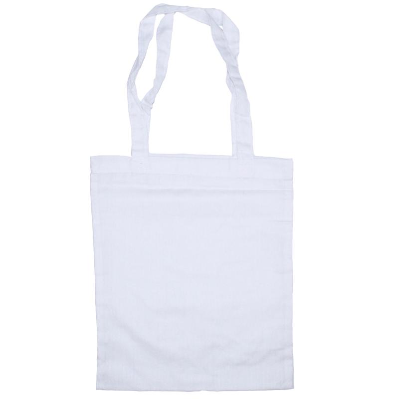 Sac en coton blanc à customiser - 24 x 28,5 cm - Photo n°1