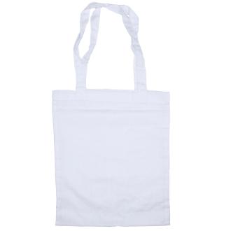 Sac en coton blanc à customiser - 24 x 28,5 cm