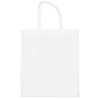 Sac tote bag en coton blanc à customiser - 42 x 38 cm