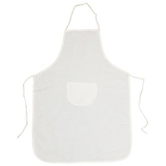 Tablier en coton écru à customiser - 90 x 65 cm