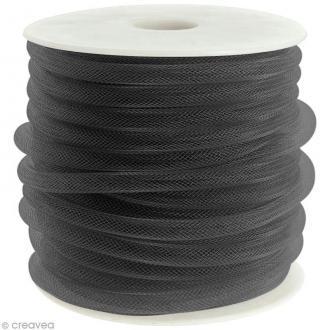 Résille tubulaire 8 mm - Noir - Au mètre (sur mesure)