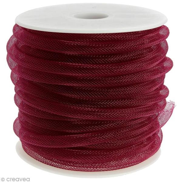 r sille tubulaire 8 mm rouge lie de vin au m tre sur mesure r sille tubulaire creavea. Black Bedroom Furniture Sets. Home Design Ideas