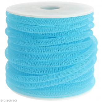Résille tubulaire 8 mm - Bleu turquoise - Au mètre (sur mesure)