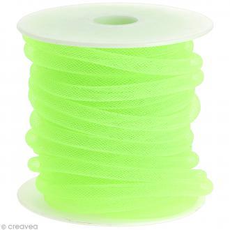 Résille tubulaire 8 mm - Vert tilleul - Au mètre (sur mesure)