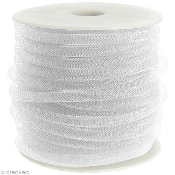 Résille tubulaire 8 mm - Blanc - Au mètre (sur mesure) - Photo n°1