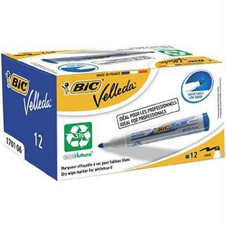 Bic VELLEDA WhiteBoard 1701 Bullet Marker 1.5mm Box of 12 - Blue