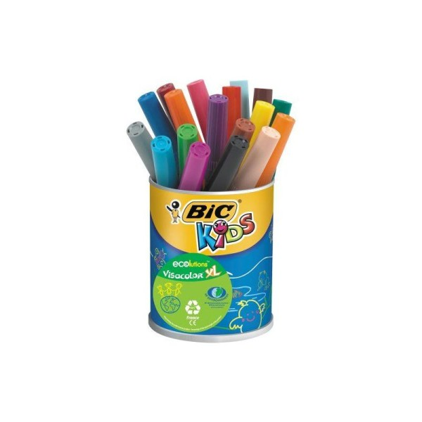 BIC Kids VisaColor Evolutions Pot de 18 Feutres de Coloriage XL - Photo n°1