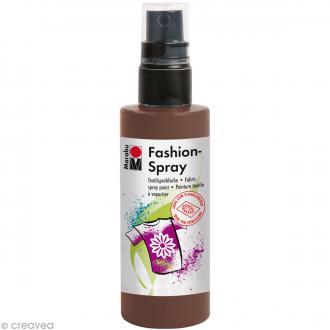 Peinture textile Fashion spray - Marron cacao - 100 ml
