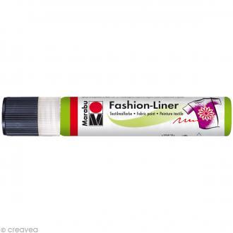 Liner peinture textile - Fashion Liner - Vert réséda - 25 ml