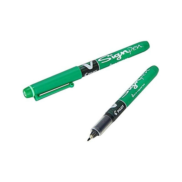 Pilot V Sign Pen - 2.0 mm Encre liquide Verte Lot de 12 - Photo n°1