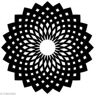 Pochoir inversé silhouette - Oriental - 15 x 15 cm