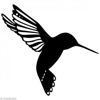 Pochoir inversé silhouette - Oiseau - 15 x 15 cm