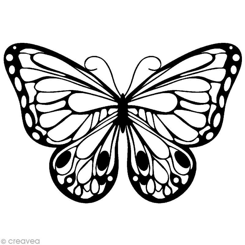 Pochoir invers silhouette papillon 15 x 15 cm pochoir invers creavea - Silhouette papillon imprimer ...