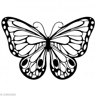 Pochoir inversé silhouette - Papillon - 15 x 15 cm