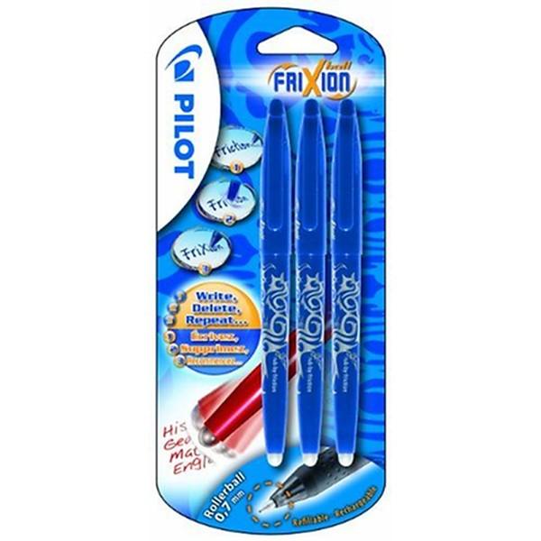 Pilot FriXion Ball Lot de 3 stylos rollers à encre gel effaçable (Bleu) (Import Royaume Un - Photo n°1