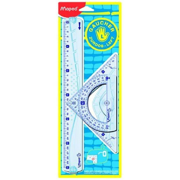 Maped Kit de traçage géométrie incassable Gris - Photo n°1