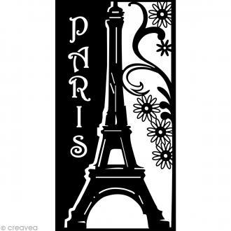 Pochoir inversé silhouette - Paris - A4