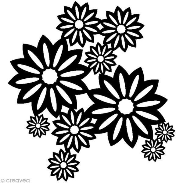 Pochoir inversé silhouette - Fleurs sauvages - 30 x 30 cm - Photo n°1