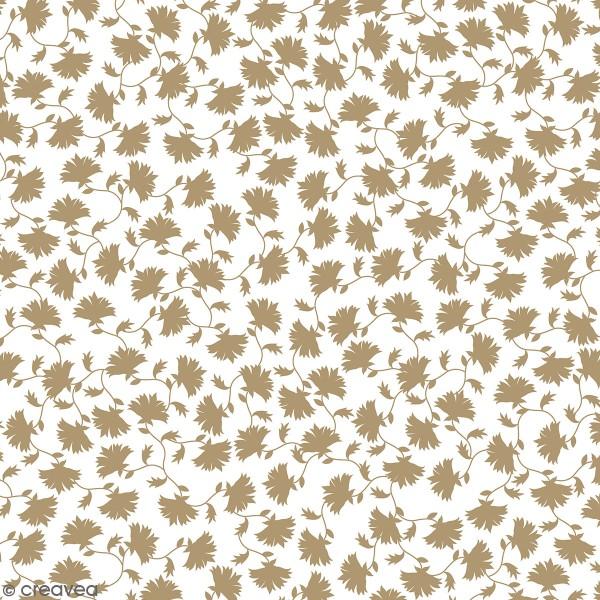 Feuille Calque Artemio - Fleurs Doré - 30,5 x 30,5 cm - 90 g - Photo n°1