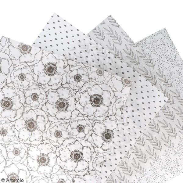 Feuille Calque Artemio - Fleurs - 30,5 x 30,5 cm - 90 g - Photo n°2
