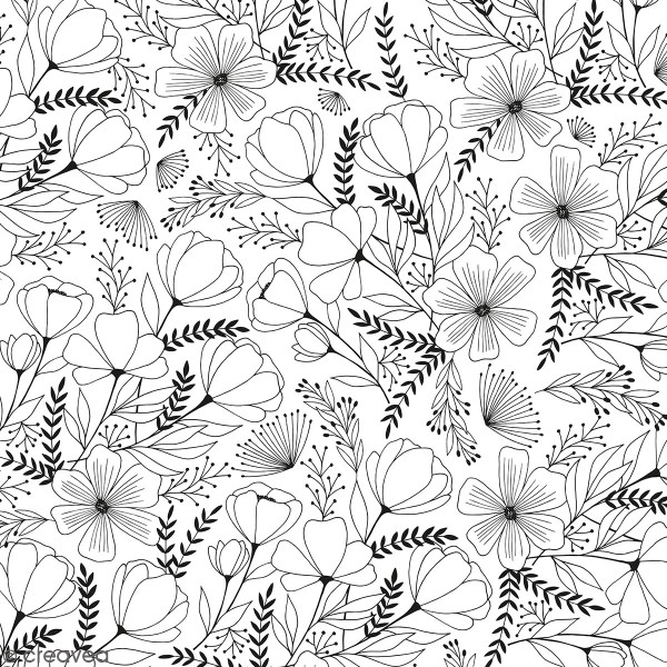 Feuille Calque Artemio - Fleurs - 30,5 x 30,5 cm - 90 g - Photo n°1