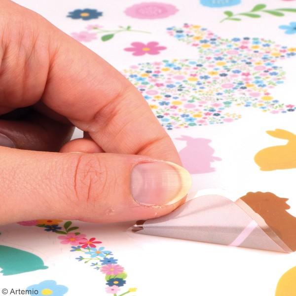 Autocollants transparents Artemio - Pâques Chocolat - 65 pcs - Photo n°3