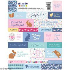 Stickers Artemio textes - Pâques Chocolat - 52 pcs