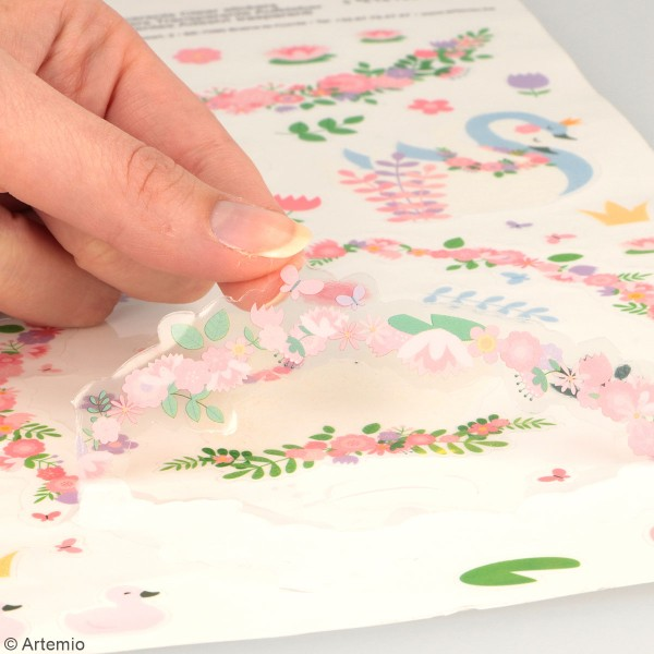 Autocollants transparents Artemio - Lovely Swan - 65 pcs - Photo n°3