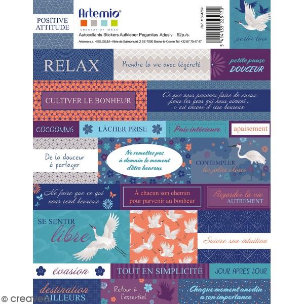 Stickers Artemio textes - Japan - 52 pcs - Photo n°1