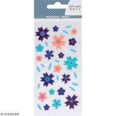 Stickers Puffies Japan - Fleurs - 33 autocollants