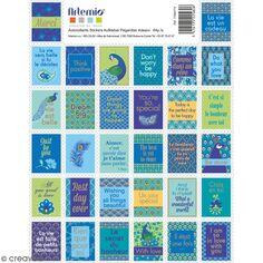 Stickers timbre décoratifs - My Lord - 3,3 x 2,7 cm - 64 pcs