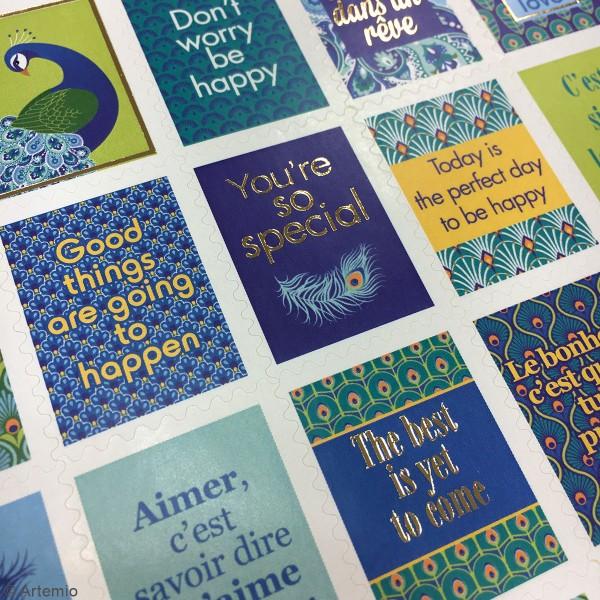 Stickers timbre décoratifs - My Lord - 3,3 x 2,7 cm - 64 pcs - Photo n°2